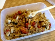 Quinoa, grilled chicken and tomatoes