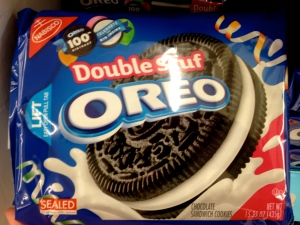 Double stuffed oreos, a favorite of Robby's.