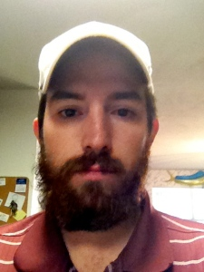 Before, this is my husband....Grizzly Adams.