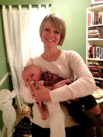 Sarah and baby Crosby