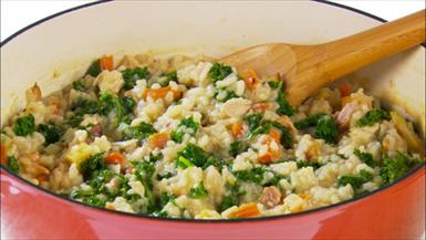 Bacon and Kale Risotto