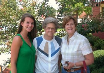 Mom, Nana, and me