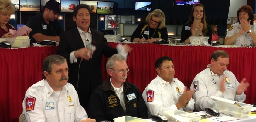 answering phones with the Odessa Fire Dept.