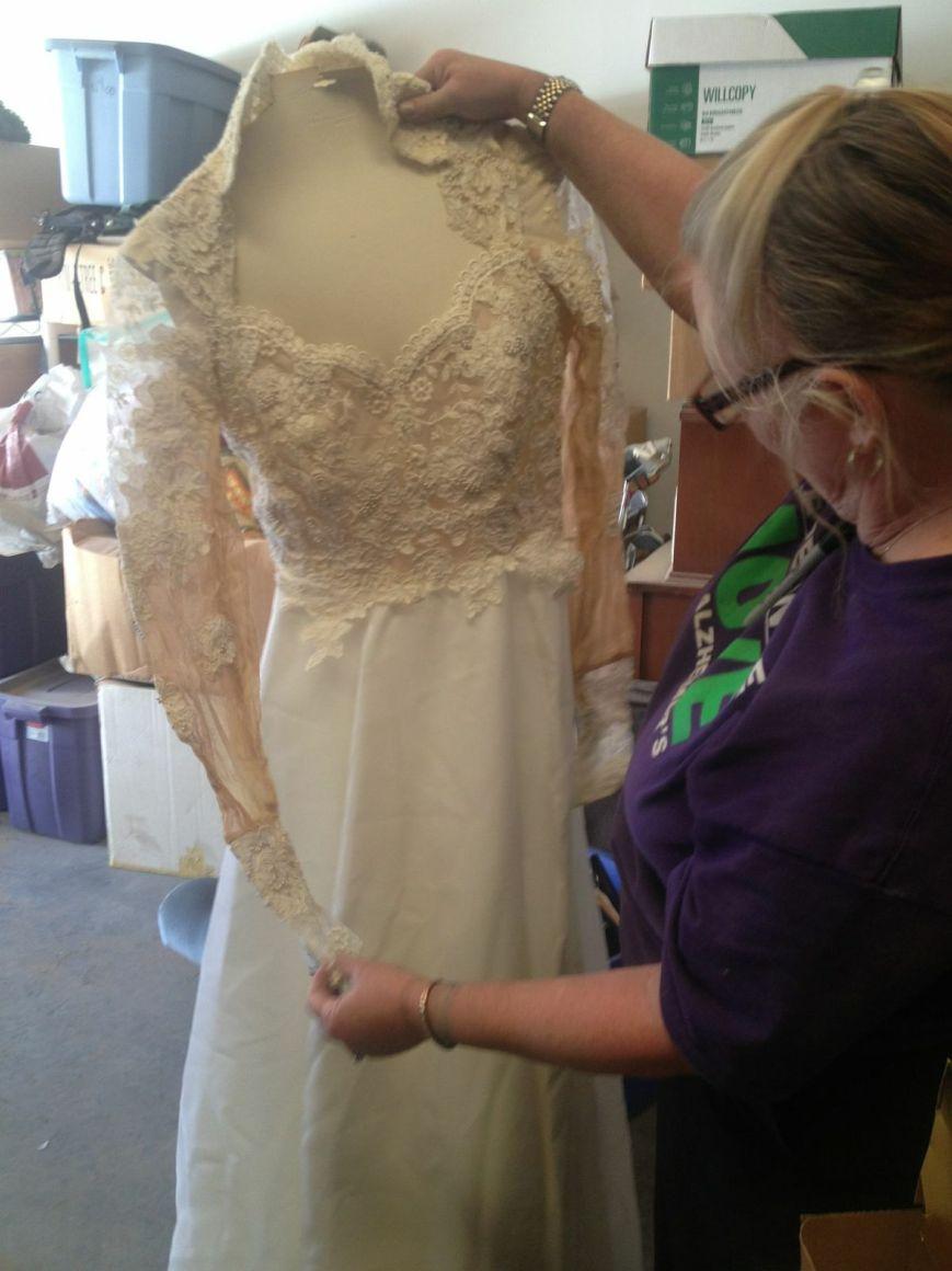 Greta's wedding dress