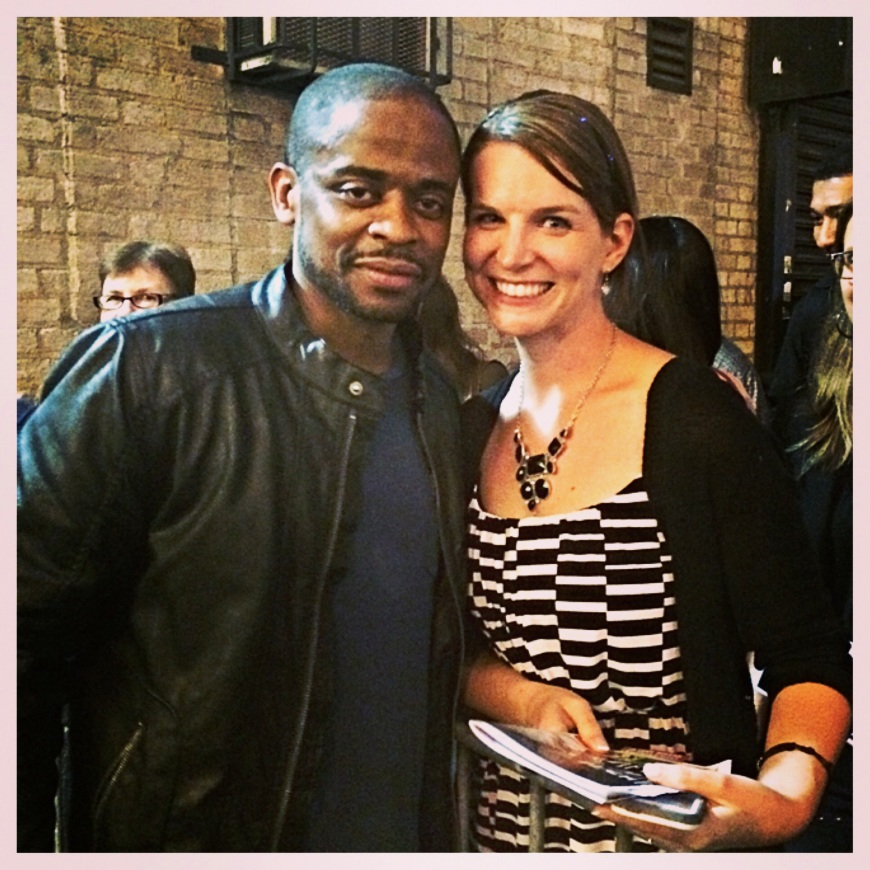 I met Dule Hill!   I might have been just a little bit star struck....